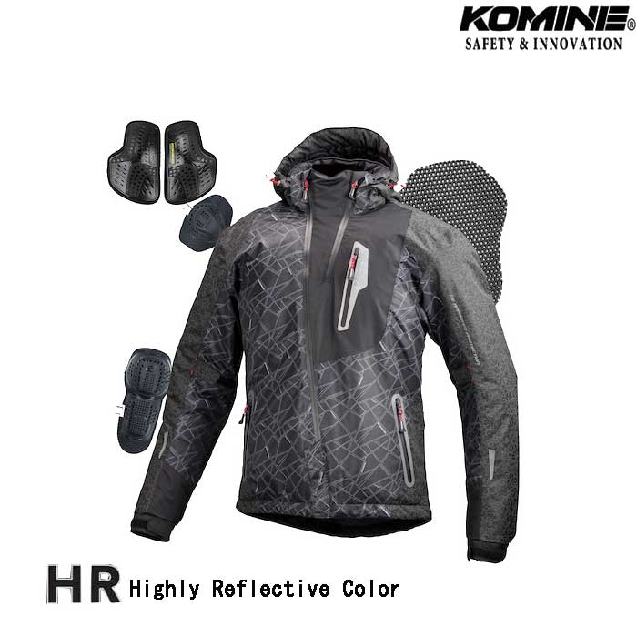 komine JK-589 プロテクトウインターパーカ HRブラック