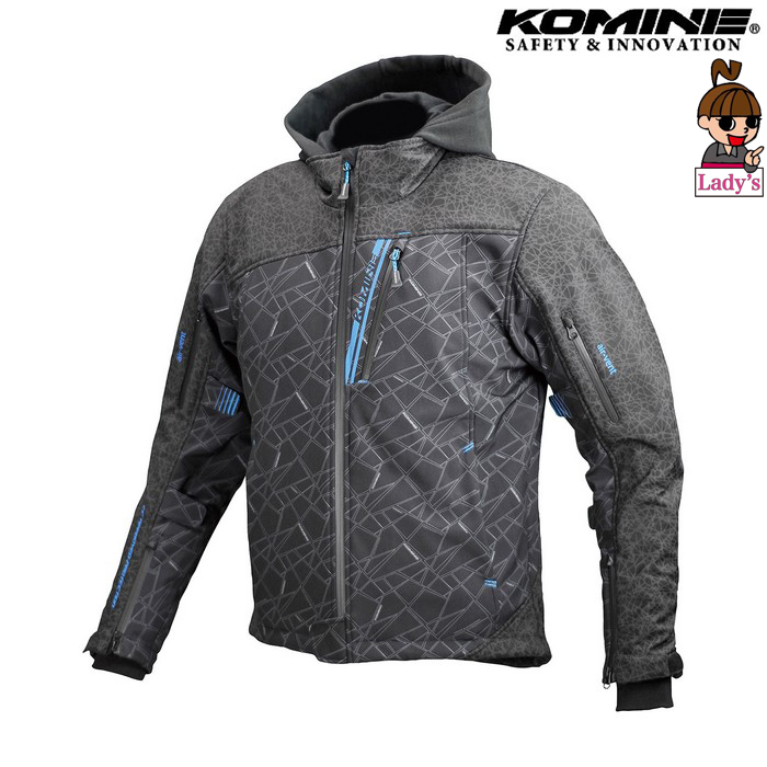 komine (レディース)JK-590 プロテクトソフトシェルウインターパーカ ジャケット HR ブラック
