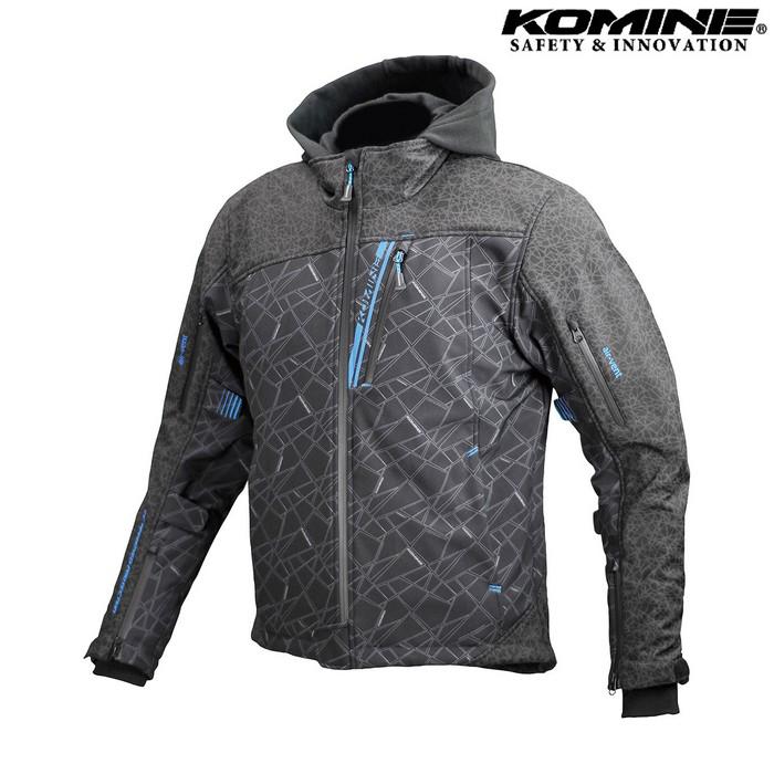 komine JK-590 プロテクトソフトシェルウインターパーカ HR ブラック