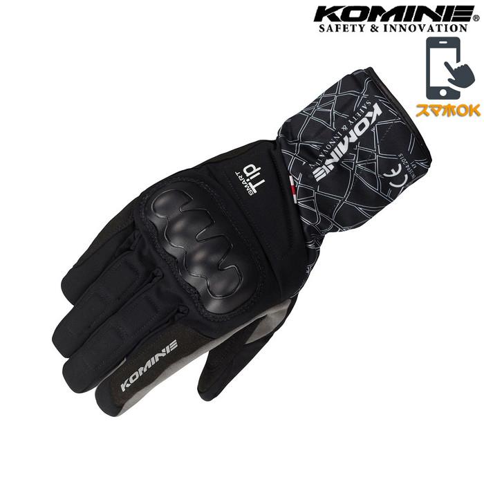 GK-827 CEプロテクトウインターグローブ 透湿防水 防風 防寒 保温 スマホ対応 クラッシュブラック ◆全3色◆
