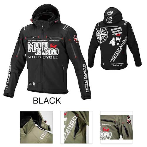komine 〔WEB価格〕MJ-005 ソフトシェルウインターパーカ ブラック ◆全2色◆