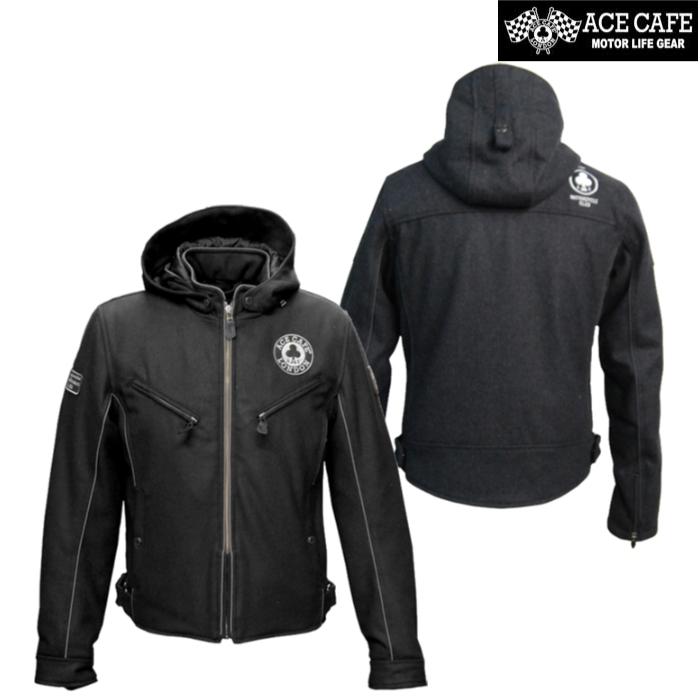 【アウトレット】通販限定在庫限り!  FS1802TJ メルトンS フーデットジャケット 防寒 防風 ブラック