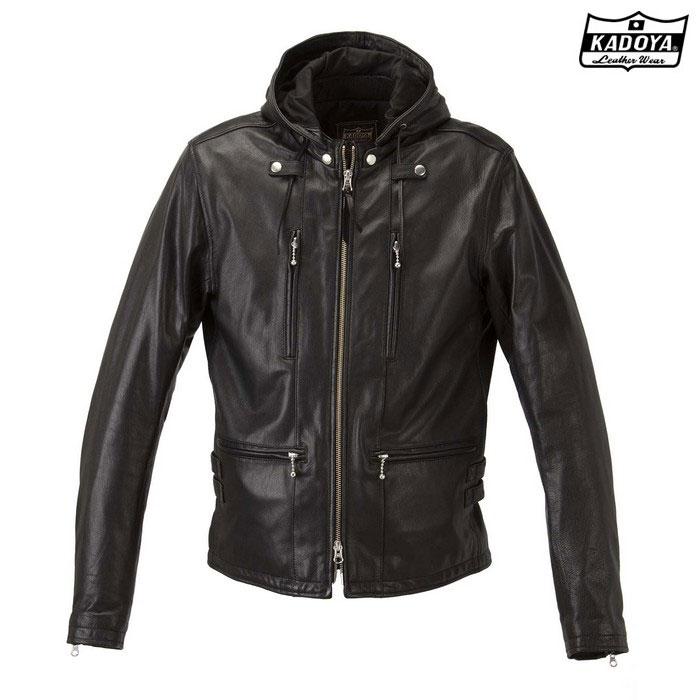 KADOYA (大きいサイズ)1190  レザージャケット EURO CAPP 『ユーロカップ』 ブラック ◆全3色◆