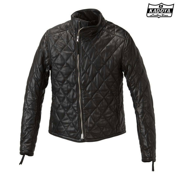 KADOYA (大きいサイズ)1191 DB9 レザージャケット ブラック◆全3色◆