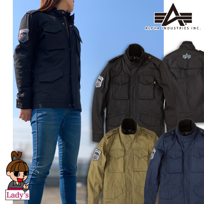 ALPHA 【WEB限定】【レディース】ALVA-1812WL M-65 COTTONジャケット 防寒 防風