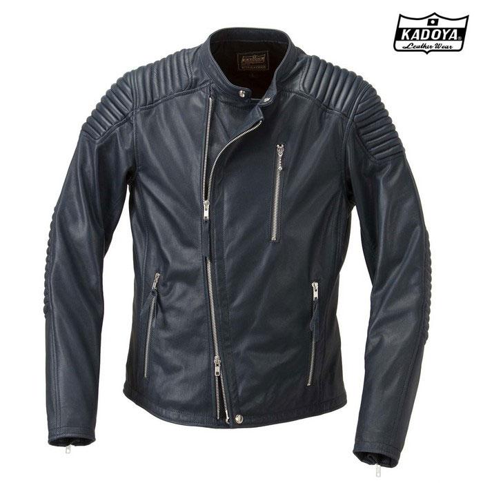 (大きいサイズ)1188 FENNEL(フェンネル) レザージャケット ネイビー ◆全3色◆