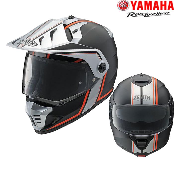 Y'S GEAR YX-6 ZENITH Graphic オフロードヘルメット 01-オレンジ
