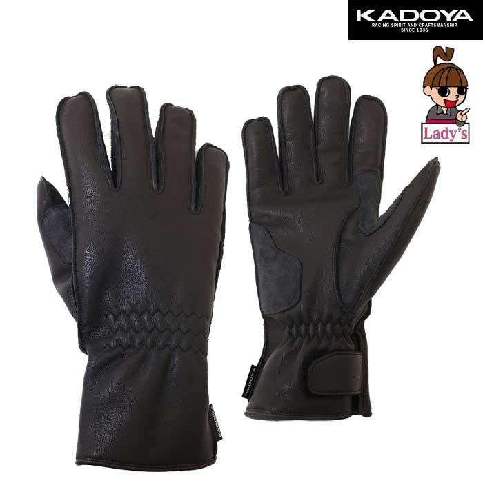 KADOYA レディース NKG-W STD レザーグローブ 防寒 裏フリース