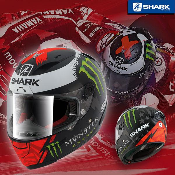 SHARK ※残りわずか!!※〔WEB価格〕RACE-R PRO LORENZO MONSTER Mat《ホルヘ・ロレンソレプリカ》 フルフェイスヘルメット