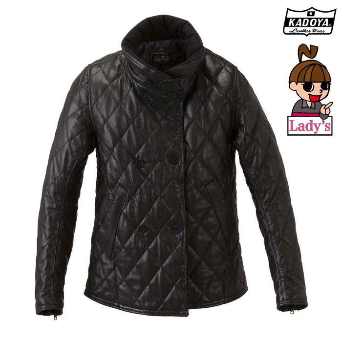 KADOYA 【WEB価格】1194 (レディース) ROXANNE レザージャケット 『ロクサーヌ』 ブラック◆全2色◆