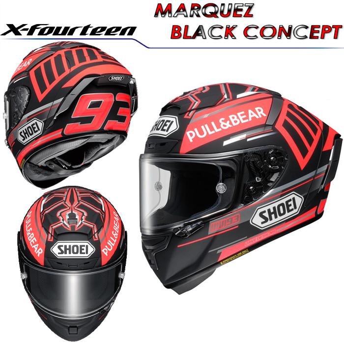 SHOEI ヘルメット X-Fourteen MARQUEZ BLACK CONCEPT【エックス-フォーティーン マルケス ブラックコンセプト】 マルク・マルケス選手グラフィック仕様レプリカモデル フルフェイス ヘルメット
