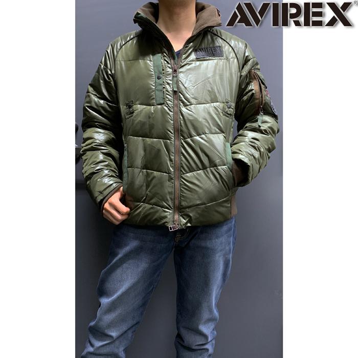 AVIREX 【WEB限定・残りわずか】AVIREX USAF PADDING JACKET 75 オリーブ 防寒 防風 アウトレット