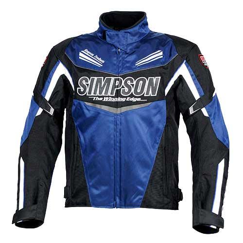 SIMPSON 【通販限定】SJ-8132 オールシーズンナイロンジャケット 防寒 防風 ブルー