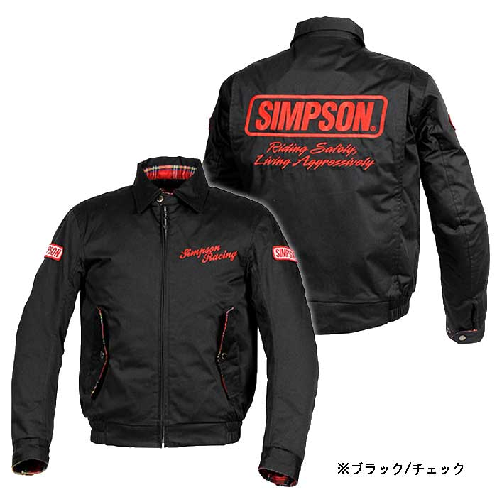 SIMPSON 【WEB限定】SJ-8131 ウインターコットンジャケット 防寒 防風