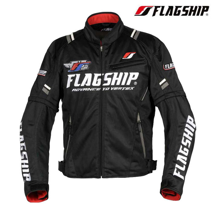 Flagship FJ-S194 アーバンライドメッシュジャケット 春夏用 ブラック/ホワイト◆全7色◆