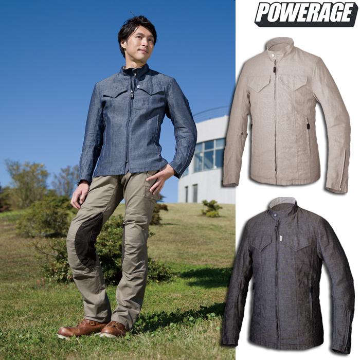 POWERAGE PJ-9105 リネンライダース 春夏用