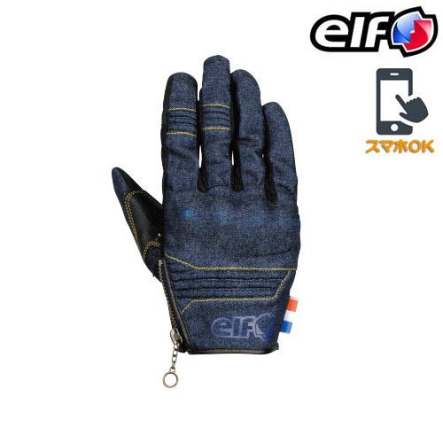 elf ELG-9266 チッタデニムグローブ スマホ対応 ネイビー ◆全4色◆