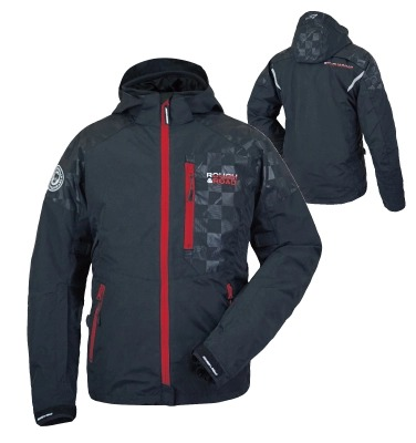 ROUGH&ROAD 〔WEB価格〕RR7241 ラフパーカー ジャケット ブラック/レッド ◆全7色◆