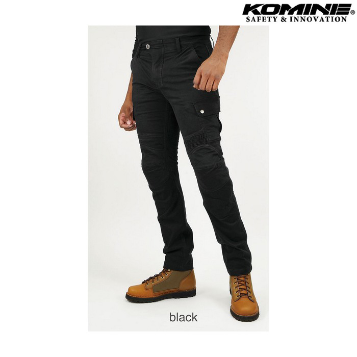 [大きいサイズ] PK-744 プロテクトライディングコットンカーゴパンツ ブラック ◆全5色◆