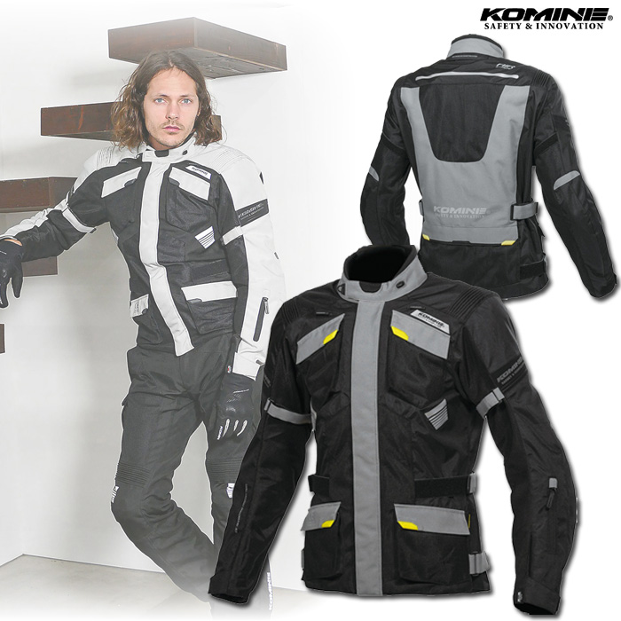 komine 大きいサイズ  JK-142 プロテクトアドベンチャーメッシュジャケット ブラック/グレー ◆全3色◆