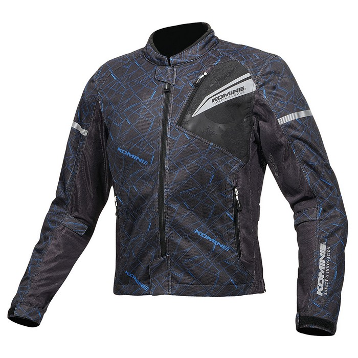 komine レディース  JK-140 プロテクトフルメッシュジャケット クラッシュブルー/ブラック◆全4色◆