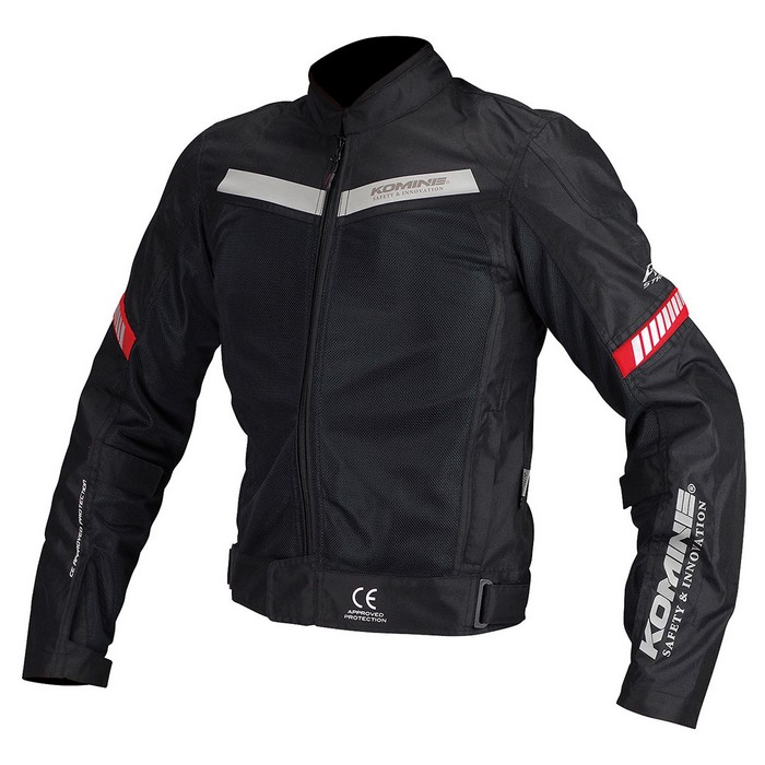 komine JK-127 プロテクトハーフメッシュジャケット ブラック◆全6色◆