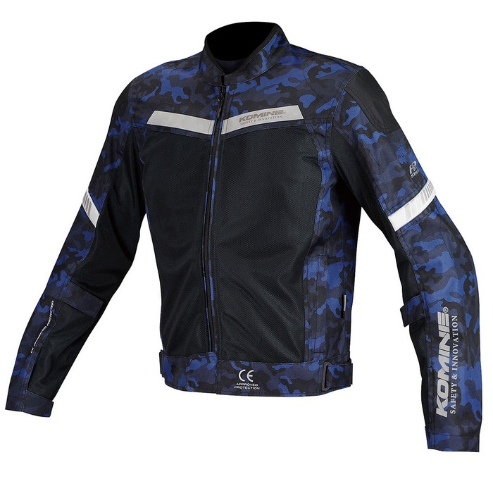 komine JK-127 プロテクトハーフメッシュジャケット ブルーカモ/ブラック◆全6色◆