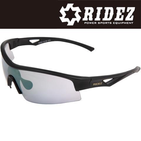 RIDEZ RS4192 サングラス M.BK M.BK MIR 花粉対策/アウトドア/スポーツ/ツーリング/サイクリング/ランニング