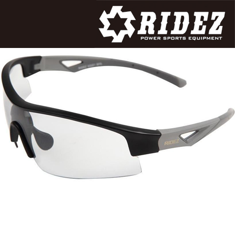 RIDEZ 【WEB限定】RS4192 サングラス M.BK GY MIR 花粉対策/アウトドア/スポーツ/ツーリング/サイクリング/ランニング