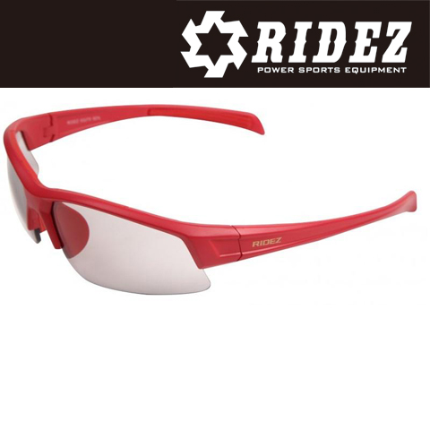 RIDEZ RS4244 サングラス M.RED M.RED SM 花粉対策/アウトドア/スポーツ/ツーリング/サイクリング/ランニング