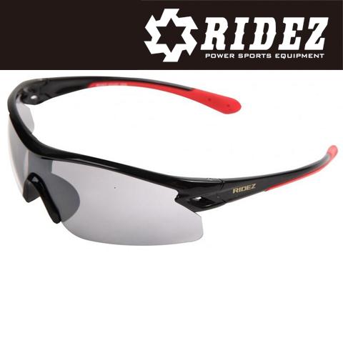 RIDEZ RS4237 サングラス S.BK S.BK SILMIR ミラー 花粉対策/アウトドア/スポーツ/ツーリング/サイクリング/ランニング