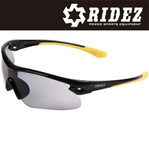 RIDEZ RS4237 サングラス S.BK S.BK M.YESILMIR ミラー 花粉対策/アウトドア/スポーツ/ツーリング/サイクリング/ランニング