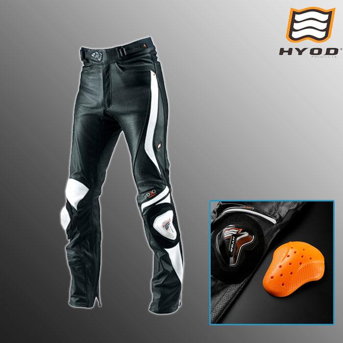 HYOD PRODUCTS HSP010DN ST-X D3O MESH LEATHER PANTS(STRAIGHT) メッシュ レザーパンツ ストレート 春夏用 ブラック/ホワイト◆全3色◆