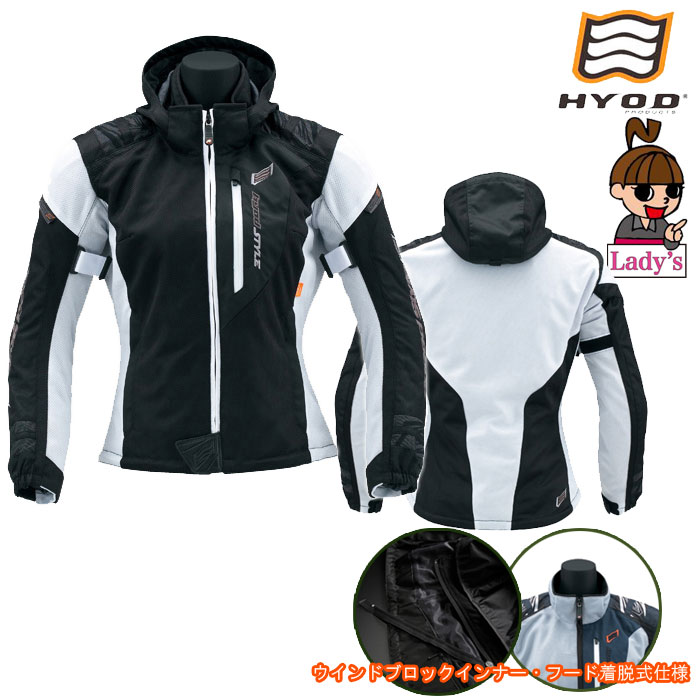 HYOD PRODUCTS 【レディース】STJ029D thea ST-S SPEED PARKA[スピードパーカー] D3O 春夏用 thea-BLACK/WHITE◆全4色◆