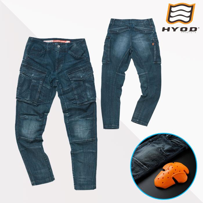 HYOD PRODUCTS HYD534D HYOD D3O 3D CARGO PANTS カーゴパンツ 春夏用 INDIGO(aged-wash)◆全3色◆