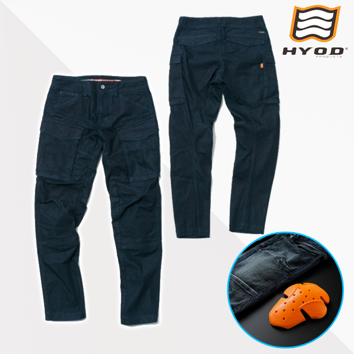 HYOD PRODUCTS HYD534D HYOD D3O 3D CARGO PANTS カーゴパンツ 春夏用 INDIGO(one-wash)◆全3色◆