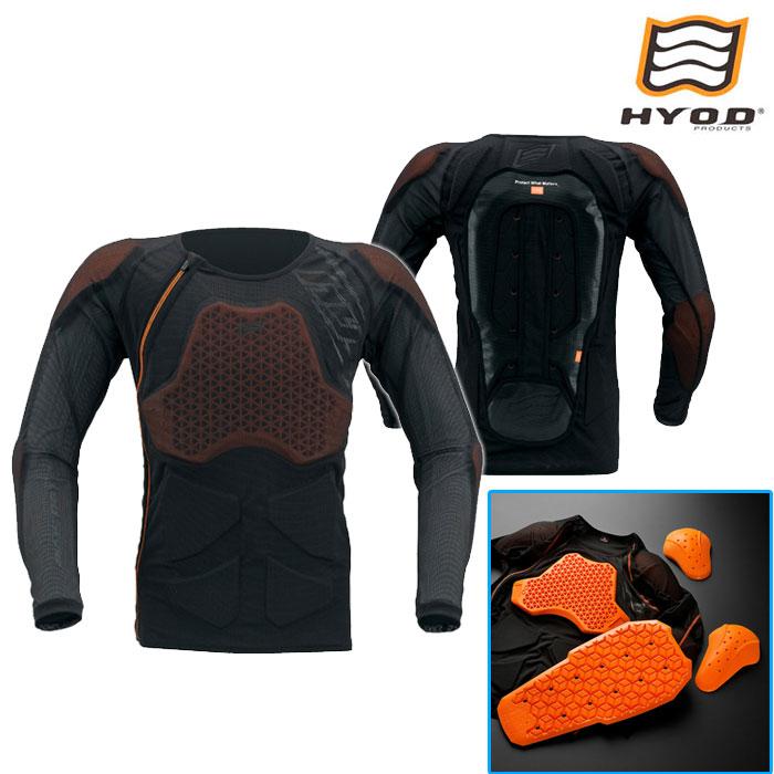 HYOD PRODUCTS HRZ909 HYOD DYNAMIC PRO D3O PROTECT SHIRTS プロテクトシャツ ブラック◆全2色◆