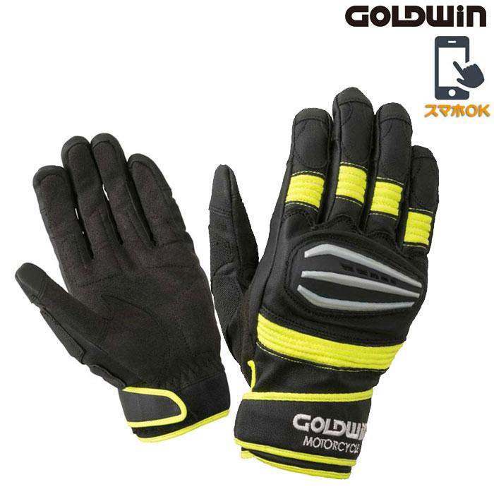 GOLDWIN 〔WEB価格〕★新作★GSM26900 リアルスピードプロテクショングローブ スマホ対応 ブラック×イエロー ◆全4色◆