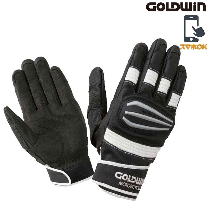 GOLDWIN 〔WEB価格〕★新作★GSM26900 リアルスピードプロテクショングローブ スマホ対応 ブラック×ホワイト ◆全4色◆