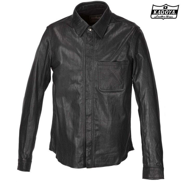 KADOYA 【WEB価格】1199 LEATHER SHIRT STD レザーシャツ(大きいサイズ) ブラック ◆全3色◆