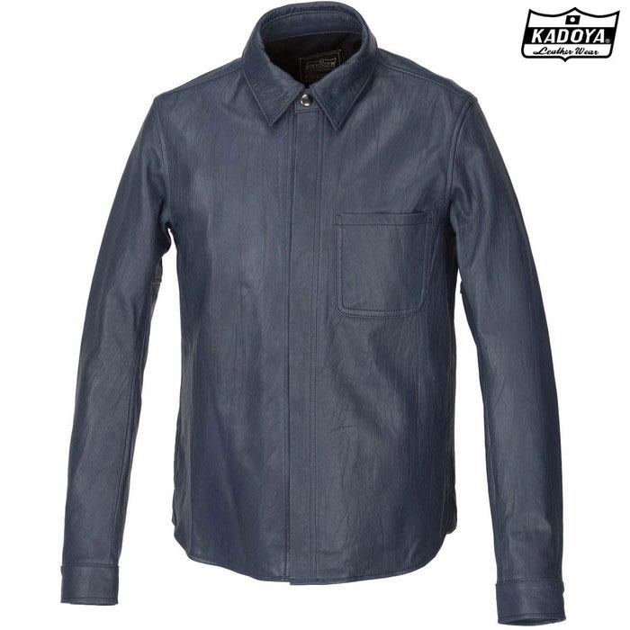 KADOYA 1199 LEATHER SHIRT STD レザーシャツ ネイビー ◆全3色◆