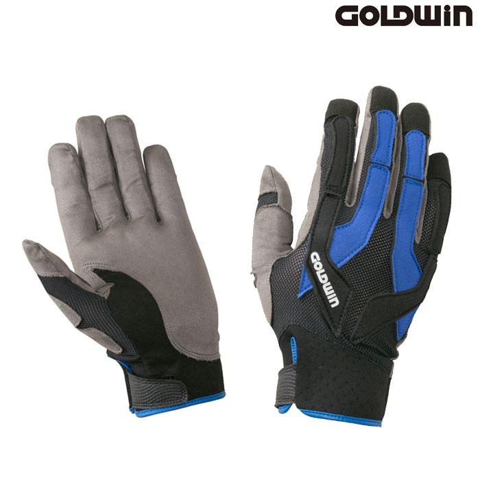 GOLDWIN 〔WEB価格〕★新作★GSM26903 トライアルグローブ ブラック×ブルー(KB)◆全2色◆