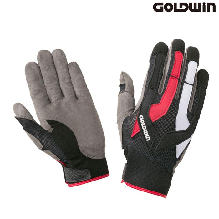 GOLDWIN 〔WEB価格〕★新作★GSM26903 トライアルグローブ マルチ×レッド(XR)◆全2色◆