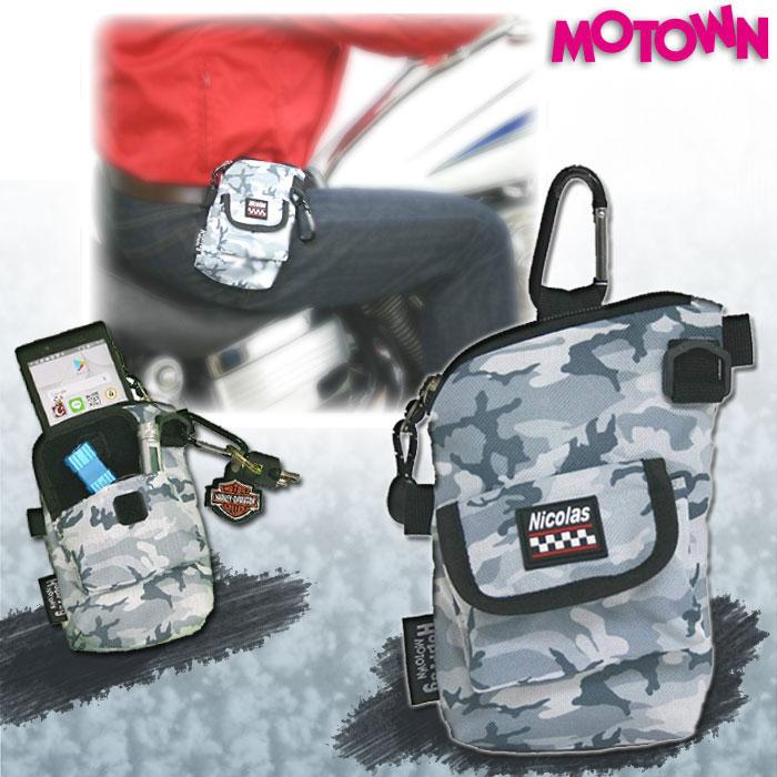 MOTOWN RCP93-GC ライダーズIQOSコンパクトポーチ グレーカモ 灰皿付き スマホケース 4995018014025