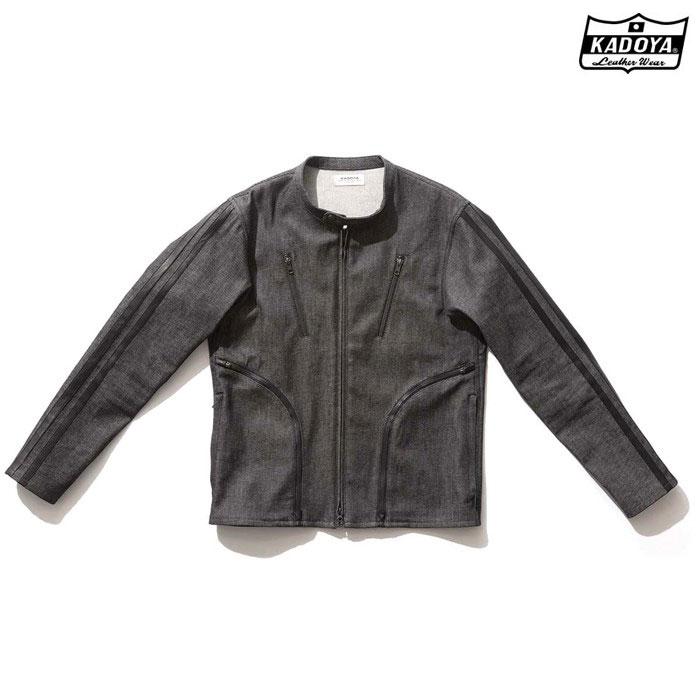 KADOYA 6245 CORSA DENIM JKT デニム ジャケット  春夏用ブラック ◆全2色◆
