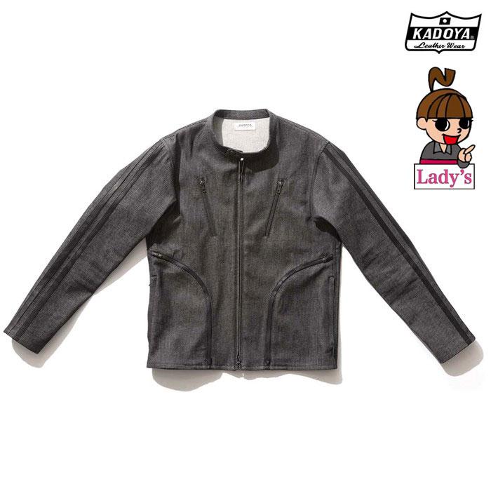 KADOYA (レディース)6245 CORSA DENIM JKT デニム ジャケット  春夏用ブラック ◆全2色◆
