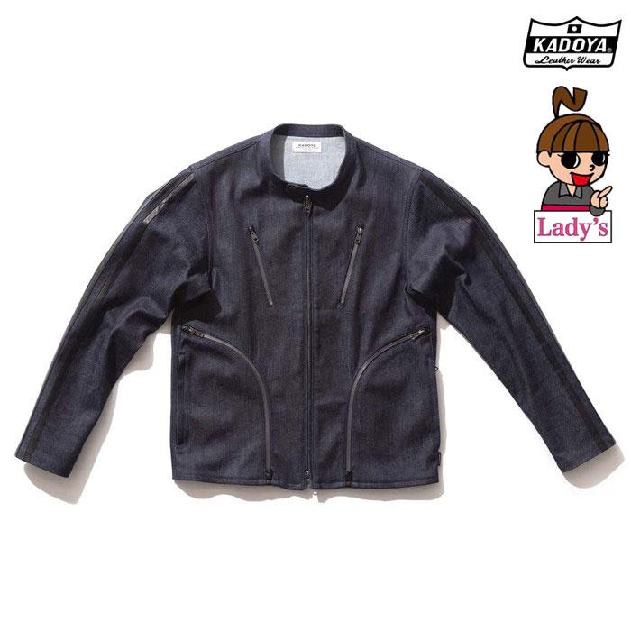 KADOYA (レディース)6245 CORSA DENIM JKT デニム ジャケット  春夏用ネイビー ◆全2色◆
