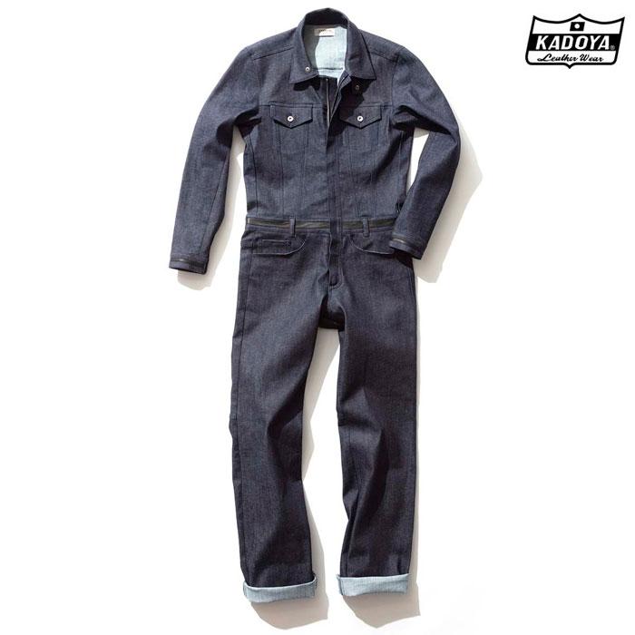 KADOYA 〔WEB価格〕6244 CORSA DENIM SUITS デニム スーツ つなぎ 春夏用ネイビー ◆全2色◆