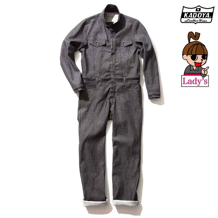 KADOYA 【WEB価格】6244 CORSA DENIM SUITS デニム スーツ つなぎ 春夏用(レディース)ブラック ◆全2色◆
