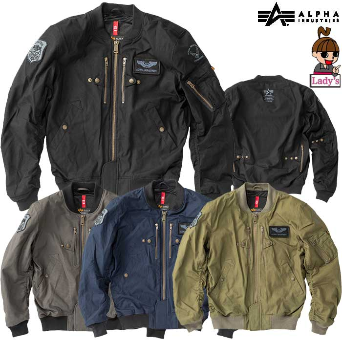 ALPHA 【レディース】ALVA-1912SL L-2B COTTON M/C JAC LADY'S